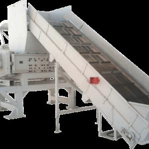 JBF-grosse-Universal-Schredder 150_120 mit Zuförderband und Nachdrückeinrichtung